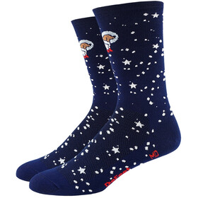 "DeFeet Aireator 6"" Fietssokken, doggo (navy w/dog in spacesuit)"